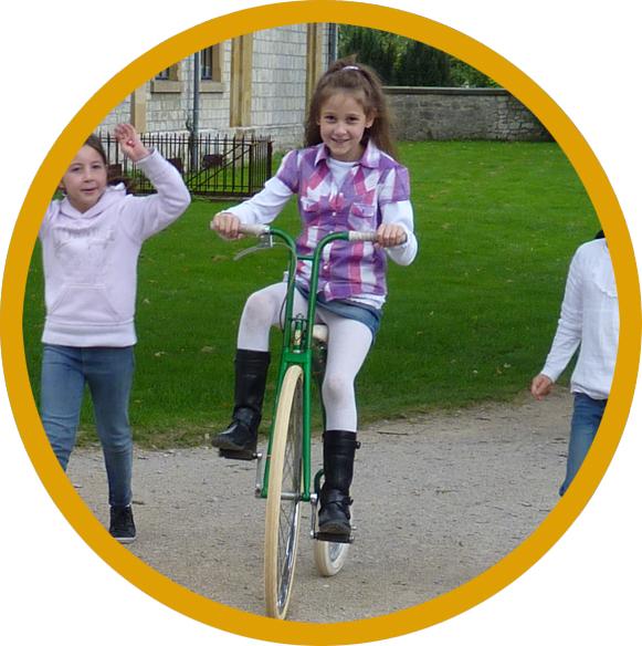 Fahrrad Hochrad Kinder rund