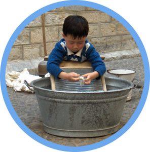 Waesche waschen rund