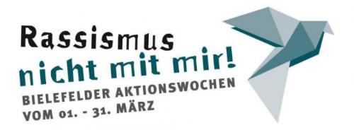 Logo Rassismus nicht mit mir Bielefelder Aktionswochen 2019