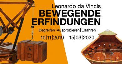 Leonardo da Vincis <BR>bewegende  Erfindungen <BR> 10/11/2019 – 15/03/2020