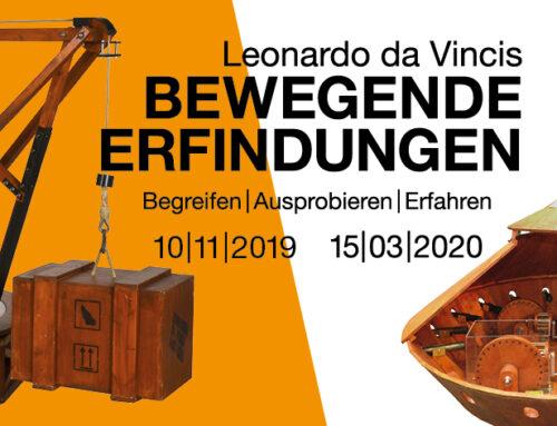 Leonardo da Vincis bewegende  Erfindungen  10/11/2019 – 15/03/2020