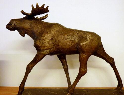Objektgeschichte: Bronzeplastik Elch